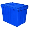 Storage Container  with attached lid, 2.28 CU FT, BLUE