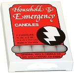 Emergency Candles Slow Burning Box of 12 packs of 5 candles