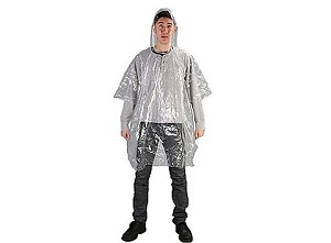Case of 200 Light-weight Emergency Rain Poncho Clear