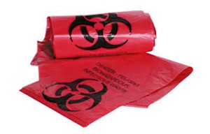 Biohazard Bags Infectious Waste Bags, 7-10 Gallon, 50/Roll