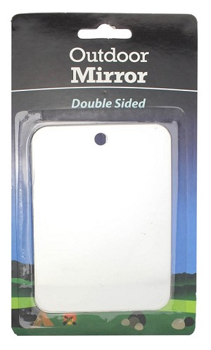 "Camping Mirror 3"" x 4"" Double Sided Stainless Steel Outdoor Signalling Mirror"
