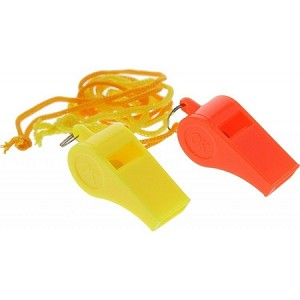 Plastic Whistle with Lanyard