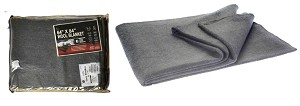 "64"" x 84"" 4lb Wool Blanket (Gray Color) (80% Wool)"